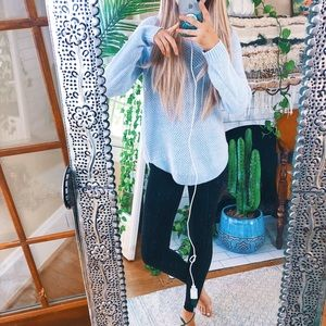 Sweaters - Baby Blue Dainty Knit Beachy SoCal Sweater 🌿 C17